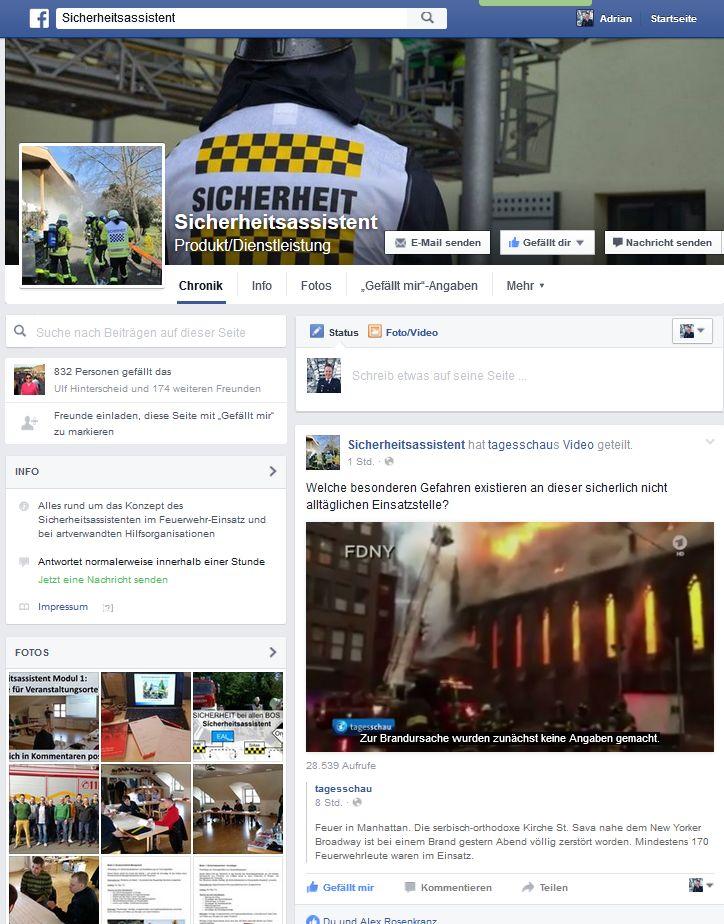 Sicherheitsassistent bei Facebook online