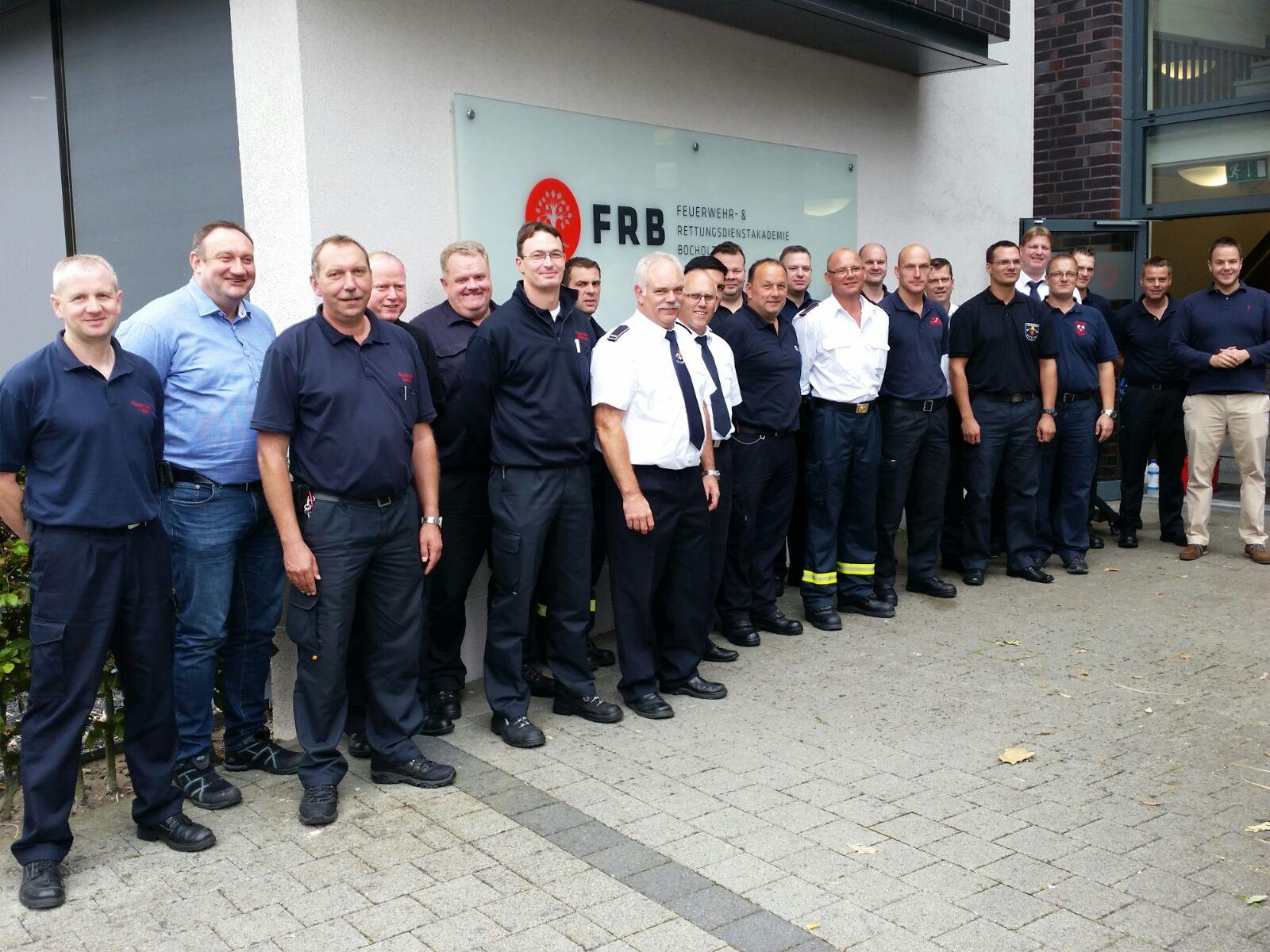 Modul 1 in Kooperation mit der Feuerwehr- und Rettungsdienstakademie Bocholt durchgeführt